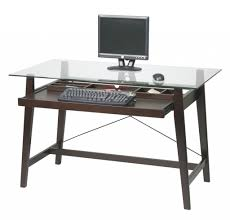 Glass Computer Desk With Drawers Funiture Modern Computer Desks Ideas With Black Metal Computer