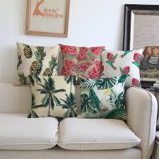 jeter de canape tropical plantes de la forêt tropicale fruits ananas oiseau