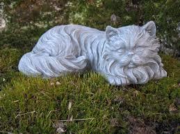 cat statue concrete cat statues haired cat figure