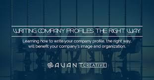 company profile writing writing company profiles the right way avant creative
