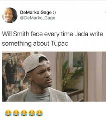 Memes Will Smith - de marko gage gage will smith face every time jada write something