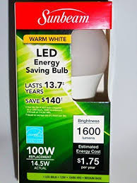 Sunbeam 14 5w E26 Warm White LED Light Bulb 1600 Lumens 100w