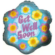 balloons get well soon 18 get well aliviate pronto smileys theme foil mylar balloons 6 b