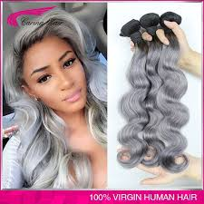 can ypu safely bodywave grey hair peruvian grey hair weave ombre grey hair 3pcs lot body wave silver