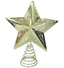 acc tree topper star metal gold david jones