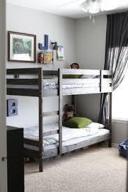 Bunk Bed With Crib On Bottom 20 Awesome Ikea Hacks For Kids Beds Bunk Bed Kids Rooms And Room