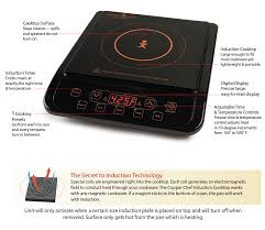 induction cooktop features copper chef xl