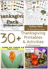 30 thanksgiving activities printables 3 dinosaurs
