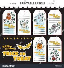 halloween gift card vector halloween collection printable gift tags stock vector