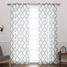Drapery Panels With Grommets Brianna Moroccan Print Semi Opaque Grommet Top Curtain Panel Pair