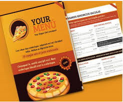 sle menu design templates sle pizza menu template