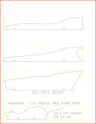 template pinewood derby car templates
