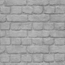 rasch brick stone wall realistic faux textured silver wallpaper 226751