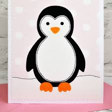 penguin personalised birthday card by arnott cards