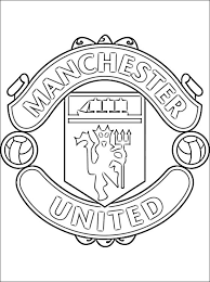coloring manchester united logo coloring pages
