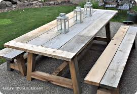 Patio Dining Set With Bench Corona Etsy Enchanting Outdoor Dining Room Table Home