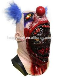 scary mask horrible scary mask party bloody clown mask
