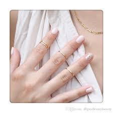 ring set 2017 hot rings set finger rings stack plain above knuckle