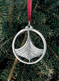 pewter ornament norge viking ship