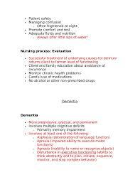 Stop Comfort Nursing 8086990 Lecture Notes For Mental Health Nursing Psych Nursing