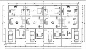 row house floor plan house plan unique triplex house plans india triplex house plans