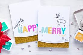 hero arts origami christmas cards u0026 holiday challenge from hero