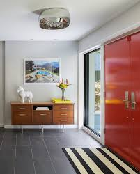 modern entry foyer entry mediterranean with floor tile pattern