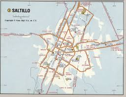 Map Of Us And Mexico by Saltillo City Mexico Road Mapfree Maps Of Us