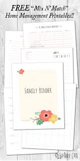 free home more than 200 free home management binder printables fab n u0027 free