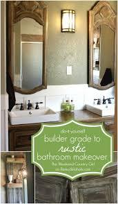 Diy Rustic Bathroom Vanity by Best 10 Rustic Bathroom Makeover Ideas On Pinterest Half