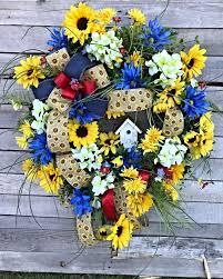 sunflower wreath summer wreath summer sunflower wreath sunflower wreath summer