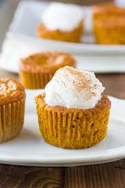 gluten free crustless pumpkin pie cupcakes dairy free