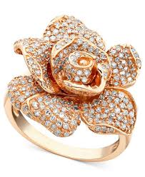 gold pave rings images Pave rose by effy diamond ring in 14k rose gold 1 1 8 ct t w tif