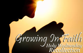 Recollec - growing in faith holy wednesday recollection ua u0026p alumni
