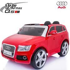 divanetto bambini auto elettrica per bambini 12v audi q5 2 posti rossa suoni