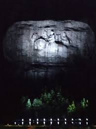 stone mountain laser light show the carving at night just before the laser show begins picture of