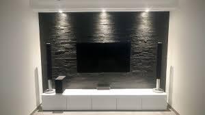 Wohnzimmer Mit Indirekter Beleuchtung Wunderbar Wohnwand Selber Bauen Holz Wohnzimmer Tv Wand Front