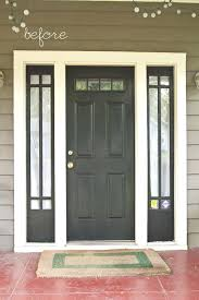 Painting Exterior Doors Ideas Painting Sidelights Top Ideas About Black Front Doors On Entry