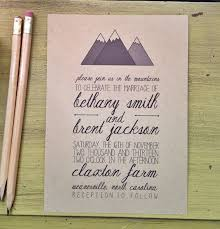 mountain wedding invitations mountain wedding invitation best 25 mountain wedding invitations