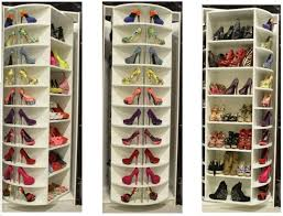 picture of tall corner closet rotating shoe rack cabinet design