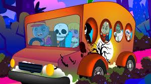 wheels on the bus halloween rhyme kindergarten song kids rhyme
