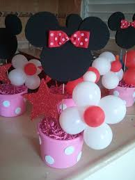1st Birthday Party Decorations Homemade Lilly U0027s Backyard Diy Minnie Mouse Party Ideas Centerpieces