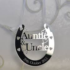 horseshoe wedding gift personalised auntie luck horseshoe bridal wedding