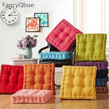 thick corduroy elastic chair cushions for kitchen chair solid