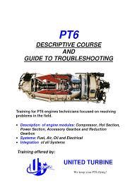 pt6 training manual gas compressor transmission mechanics
