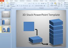 3d templates for powerpoint how to make 3d stack template in powerpoint using shapes