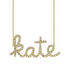 Carrie Bradshaw Name Necklace Shop Scripted Name Necklaces Instyle Com
