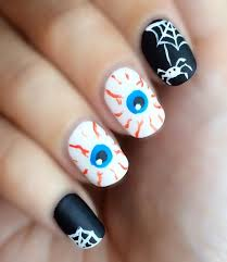 65 creepy nail art design ideas for 2017 halloween makeup