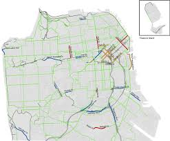 Chicago Bike Map Cycling Activists Form Human Shield Along Sf Bike Lane Again