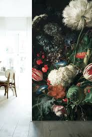 104 best inspirations for wall murals images on pinterest wall fotobehang bloemen golden age flowers kek amsterdam